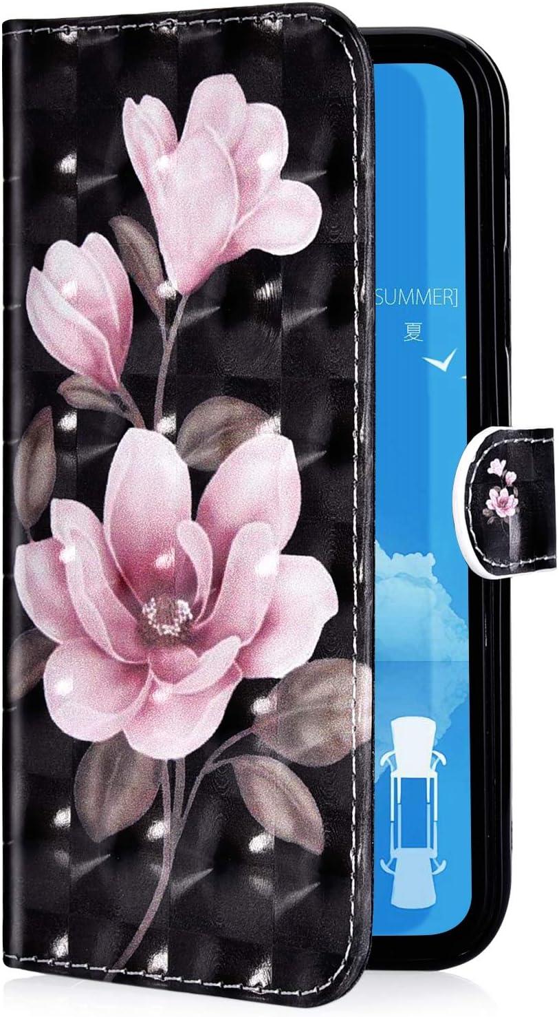 Felfy Kompatibel mit Galaxy A20e H/ülle,Kompatibel mit Galaxy A20e Case Magnetic Flip Case PU Leder Handyh/ülle Schutzh/ülle Klapph/ülle Bunt Muster Tasche Lederh/ülle mit Kartenf/ächer und Standfunktion