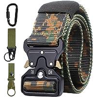 AivaToba Cinturón Táctico para Hombres, Cinturones de Lona de Nailon de Estilo Militar con Hebilla de Metal de…