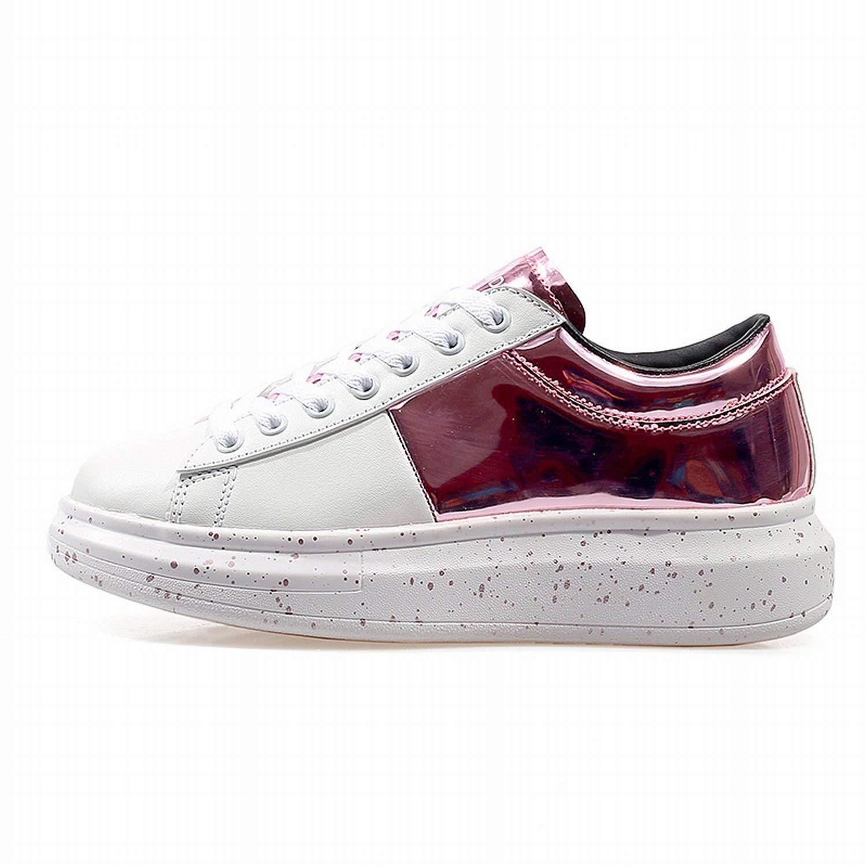 Fuxitoggo Trendy Sport Schuhe Leicht und bequem Fashion Paar Casual Schuhe (Farbe   Weiß lila Größe   39)