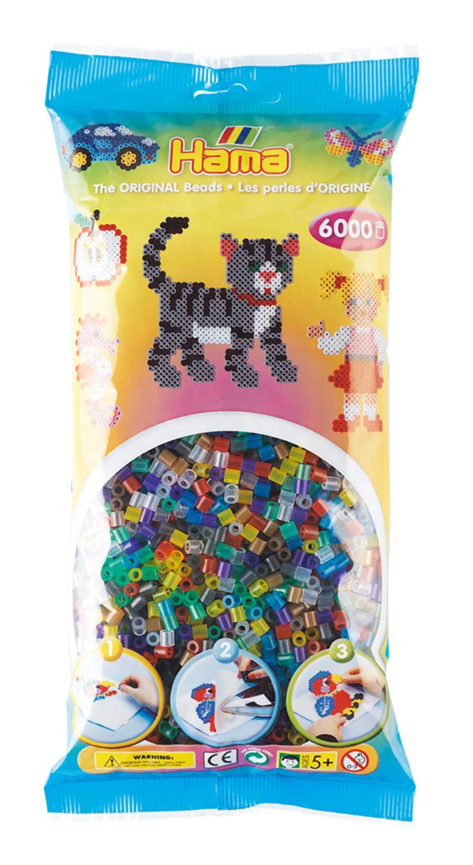 6000-Piece, Blue Malte Haaning Plastic A//S Hama Fuse Beads