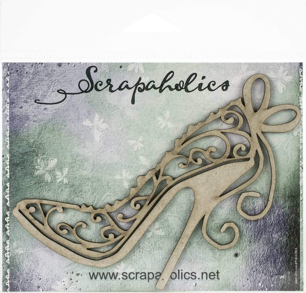 4.8X4.3 Scrapaholic Laser Cut Chipboard 1.8mm Thick-Flourish Stiletto