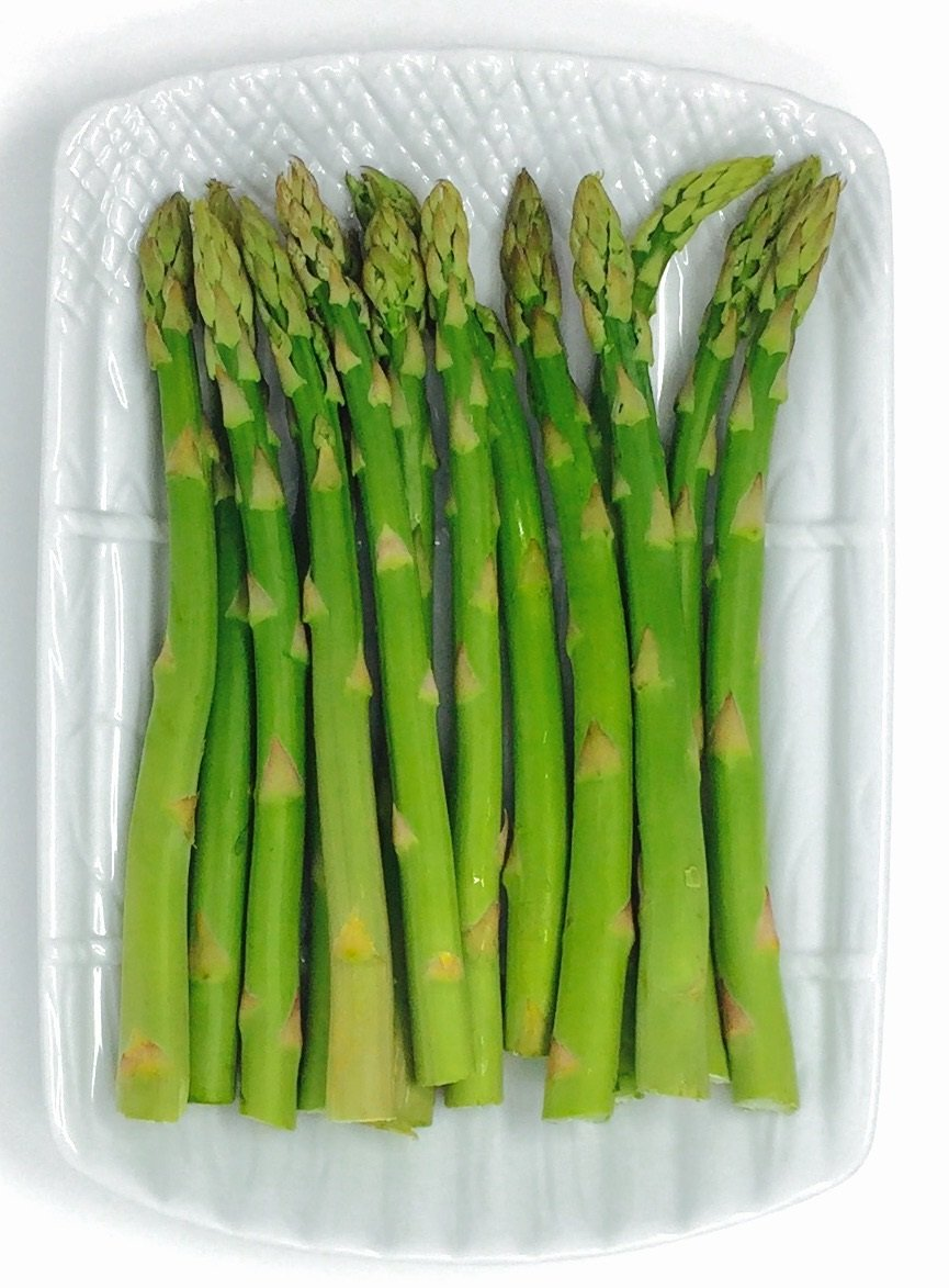 HIC Asparagus Plate and Side Dish, Fine Porcelain, White, 9-Inches