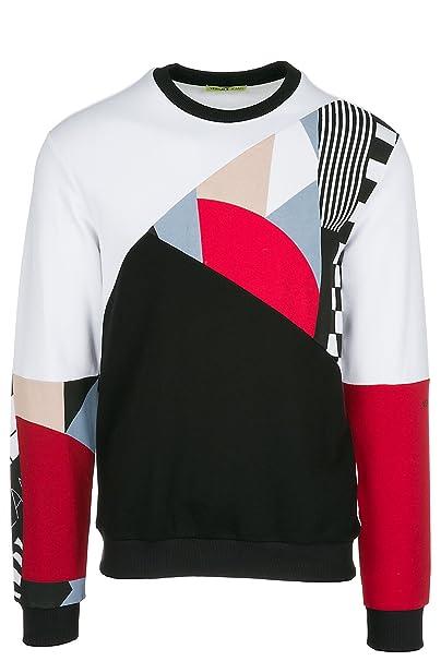 Versace Jeans Sudadera de Hombre Blanco EU M (UK 38) B7GRB7FC: Amazon.es: Ropa y accesorios