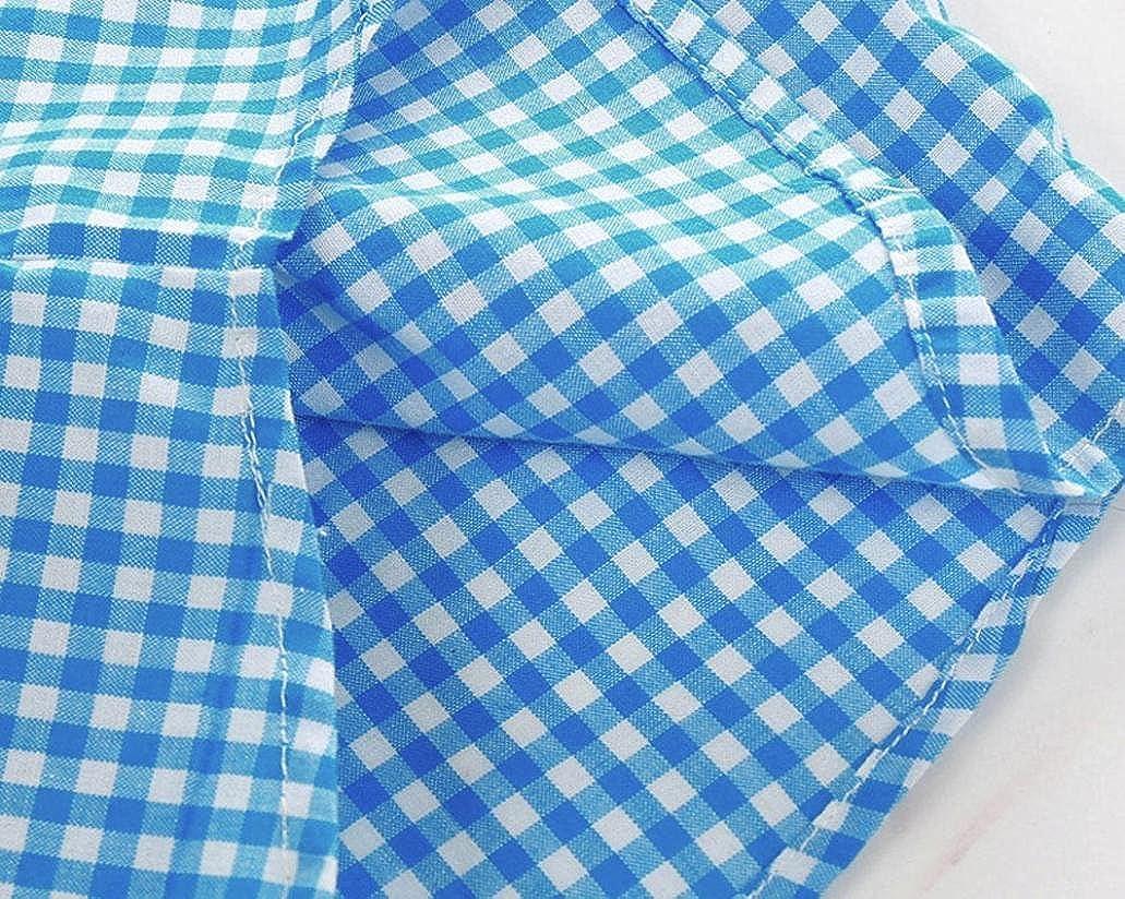 Pantalones Ropa Conjuntos 0-24 Mes Beb/é ni/ño Rejilla de impresi/ón Tops Ropa Beb/é ni/ño