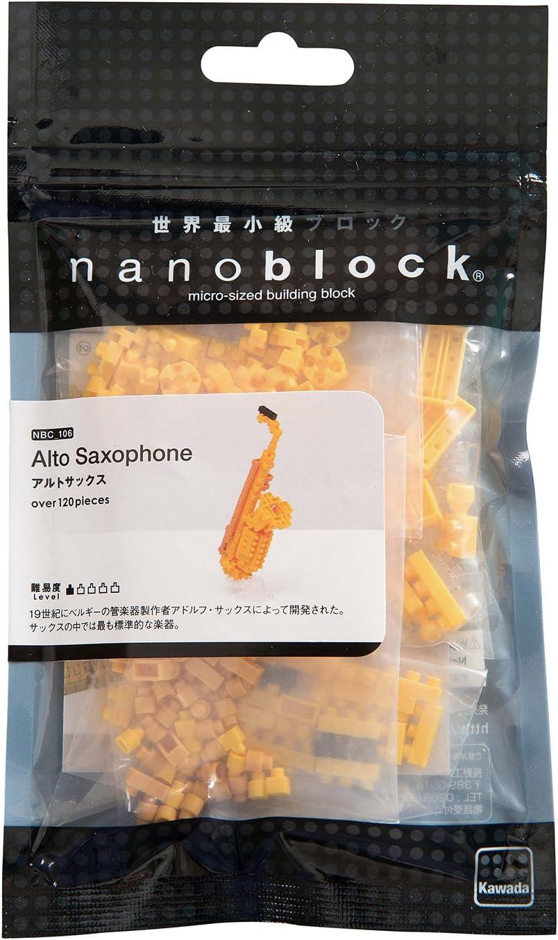 NEW NANOBLOCK Saxaphone Nano Block Micro-Sized Building Blocks NBC-106