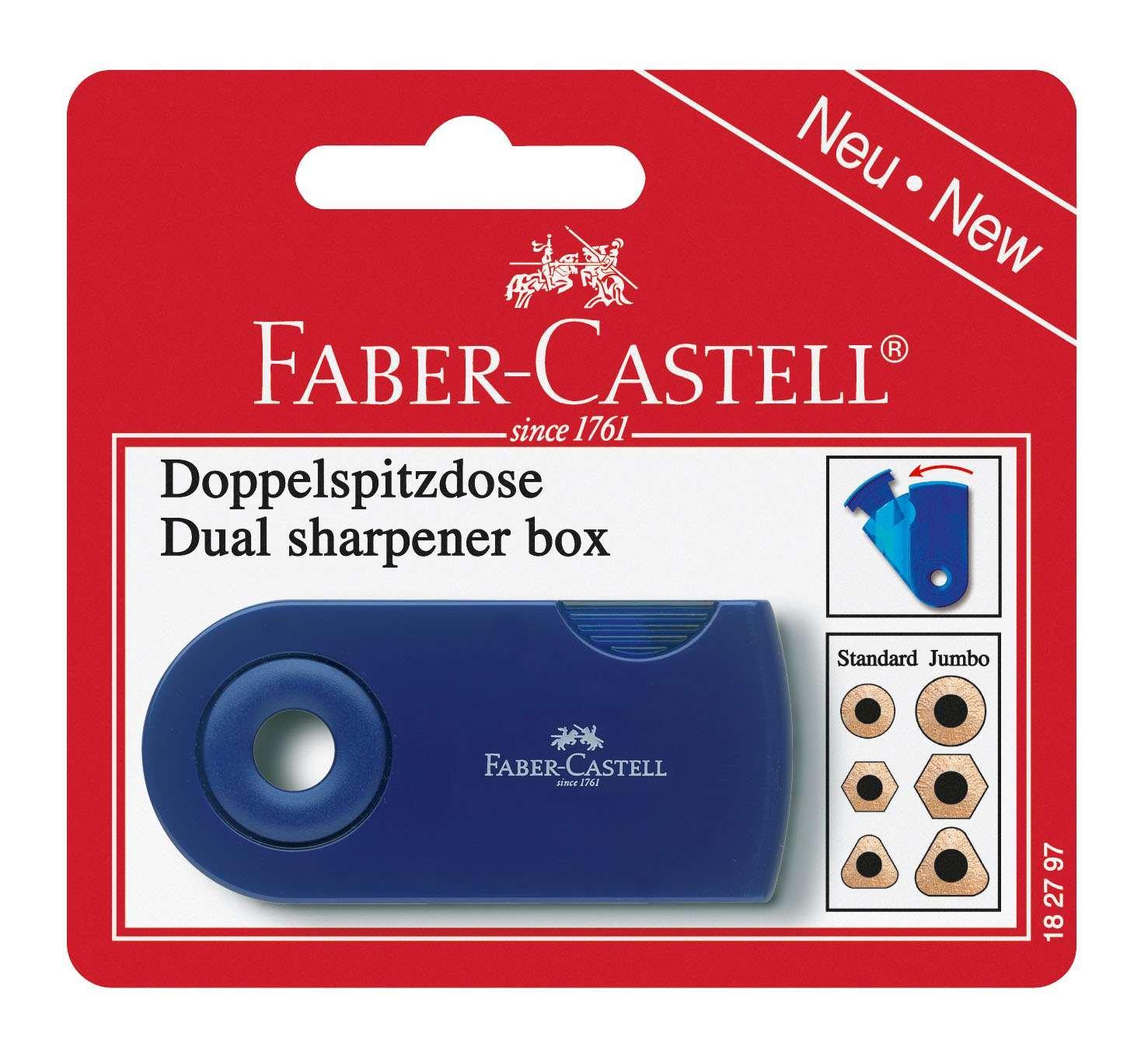 Faber-Castell 182797 - Doppelspitzdose, farblich sortiert