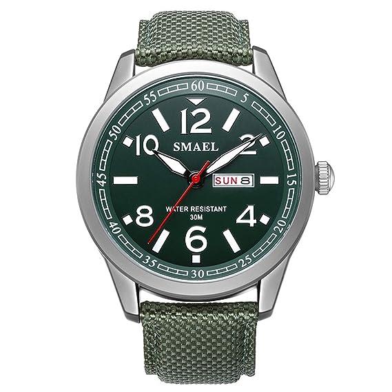 Beydodo Reloj Deportivo Reloj Quartz Reloj Multifunción Reloj Hombre Reloj Impermeable Relojes Calendario Verde