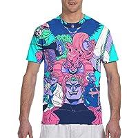 Mens T-Shirt 3D Anime Print Short Sleeve Tee Tops S-3XL