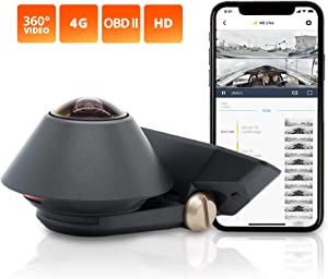 "Waylens – Secure360 4G Dash Cam with ""Easy Install"" OBD ll Power Cord – 360° Coverage – Advanced HDR Video – Smart Power & Thermal Management – Supports Class 10 MicroSD Cards Up To 256GB"