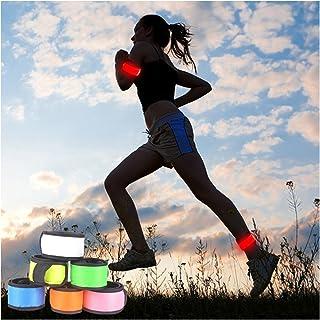 Namsan LED Slap Glow Bracelet,Visibility Safety Wristband,Running/Jogging Light up Wristband,Slap Lit LED Bracelet,High Visibility Outdoor Sports Light Up Wristband for Child$Women-Multi-Pieces Option