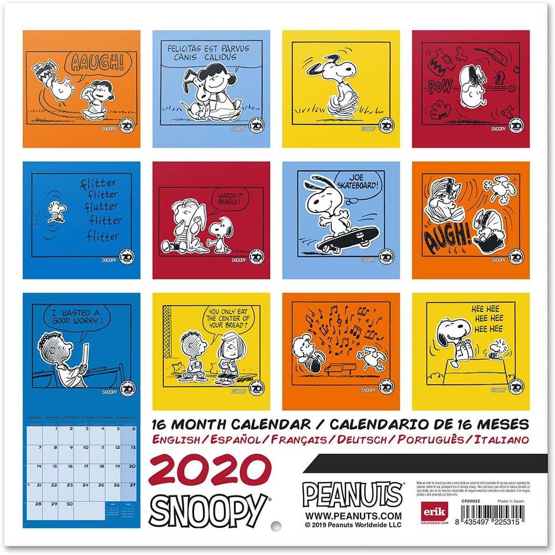Peanuts Calendario 2020 Snoopy: Amazon.es: Juguetes y juegos