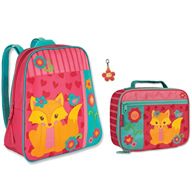 Amazon.com | Stephen Joseph Girls Fox Backpack and Lunch Box with ...
