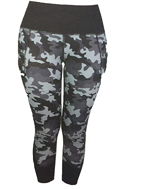 277d892f9bf17 Active Life Womens High Performance Vented Leggings (XL, grey camo ...