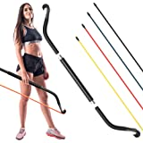 Synergee Resistance Bow. Portable Home Gym with Resistance Bands and Bar System. Collapsible Resistance Bar with Handles. Ful