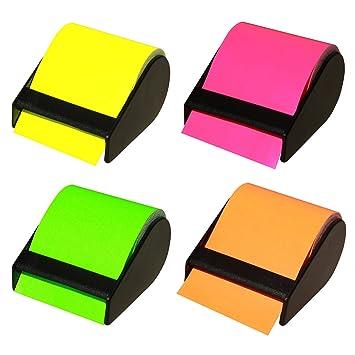 4 unidades de notas adhesivas de celo (ancho: 60 mm, 4 dispensador con
