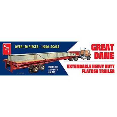AMT 1 25 Extendable Flatbed Trailer Great Dane, AMT1111: Toys & Games