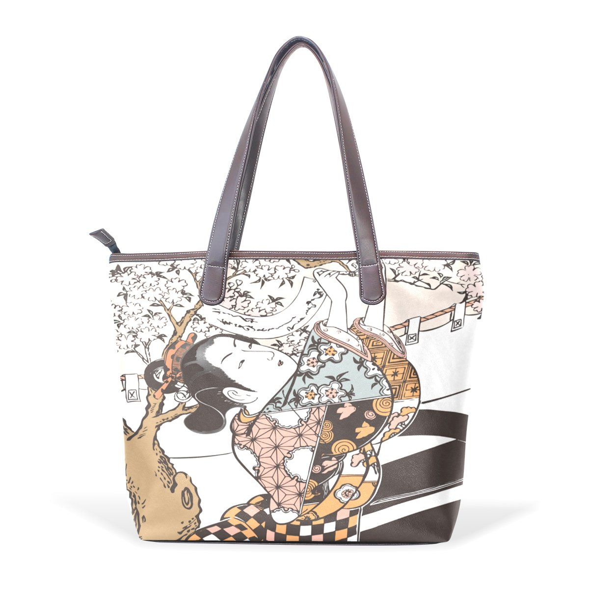 Ukiyoe Ukiyo-E Print Japanese Art Womens Fashion Large Shoulder Bag Handbag Tote Purse for Lady