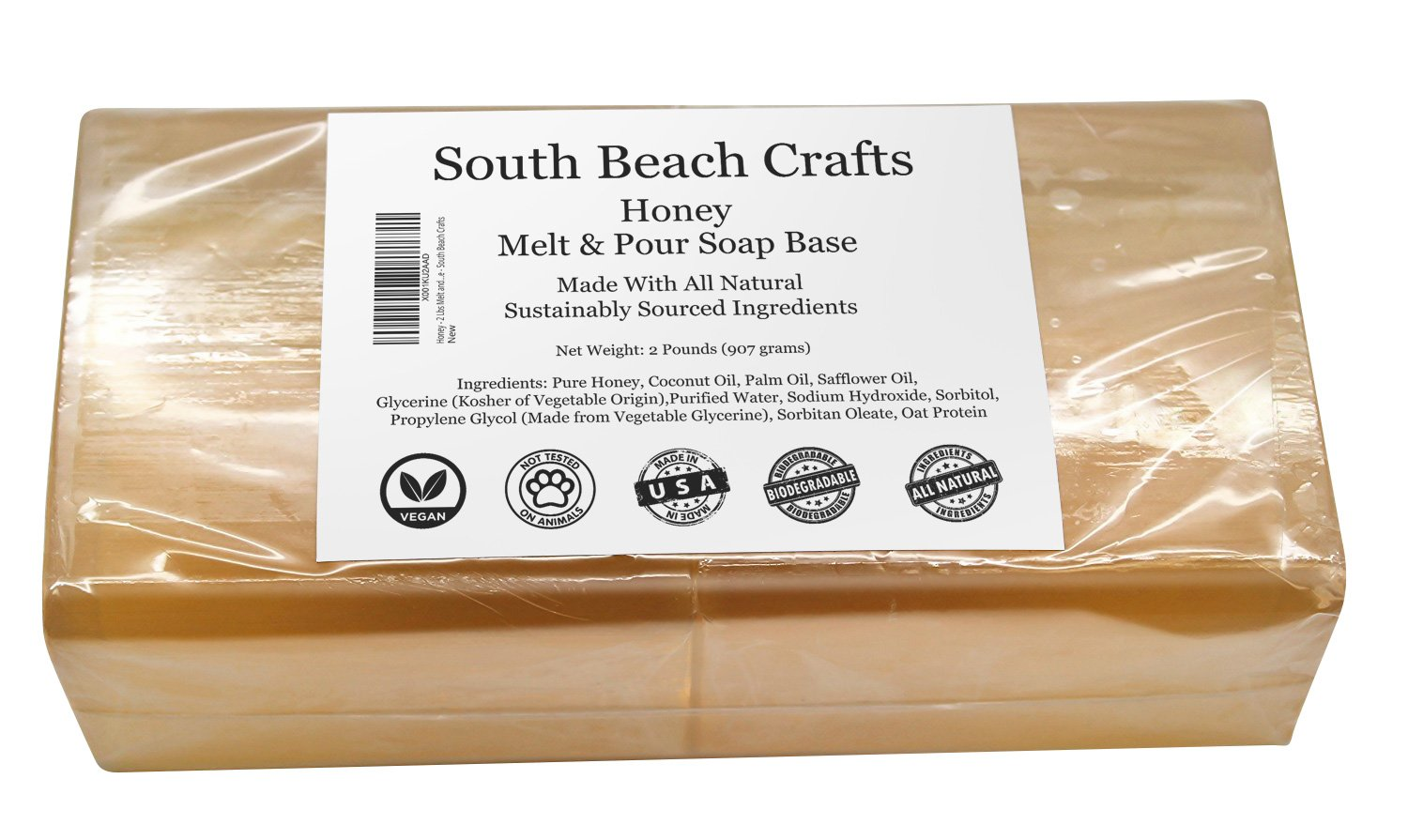 Honey - 2 Lbs Melt and Pour Soap Base - South Beach Crafts