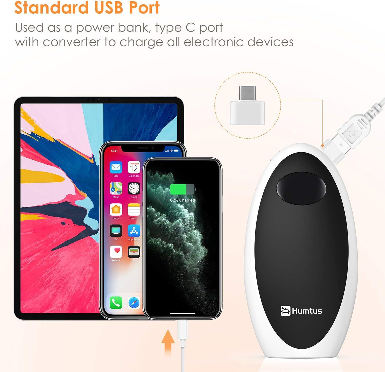 USB Back Battery Heating Double-Side Pocket Hand Warmer Power Bank 5200mAh Gift