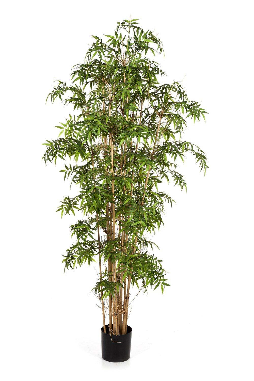 Artplants Künstlicher Japanischer Pfeilbambus Kaito, 1310 Blätter, grün, 110 cm - Bambus künstlich asiatische Kunst Pflanze