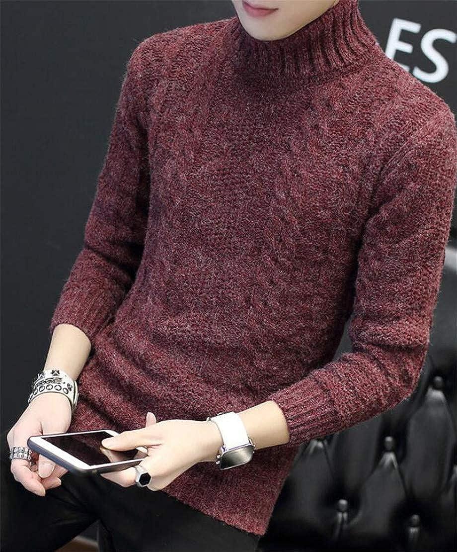 Spirio Mens Long Sleeve Classic Turtleneck Knitwear Pullover Sweater
