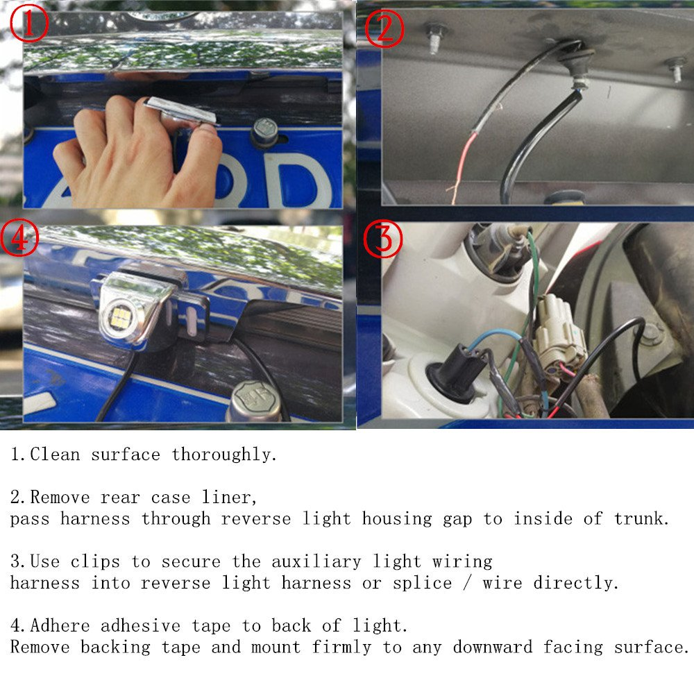 Luyed Super Bright 3020 6 Ex Led Backup Camera Reverse Wiring Harness Newest Patent Auxiliary Light Enhances Performance At Nightsolid State Black Smd Surface Mount Device Automotive