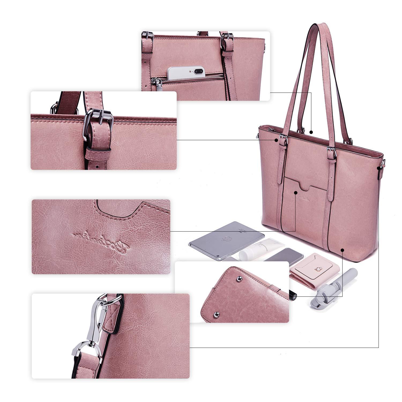 6119799734eb Bingua.com - BOSTANTEN Women Leather Laptop Shoulder Handbag Vintage ...