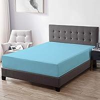 "Trance Home Linen Waterproof & Dustproof Mattress Protector King Size- 78""x72""X12"" Sky Blue"