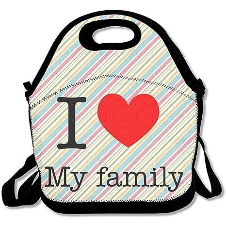 I Love My Family - Bolsas de almuerzo de neopreno grandes y ...