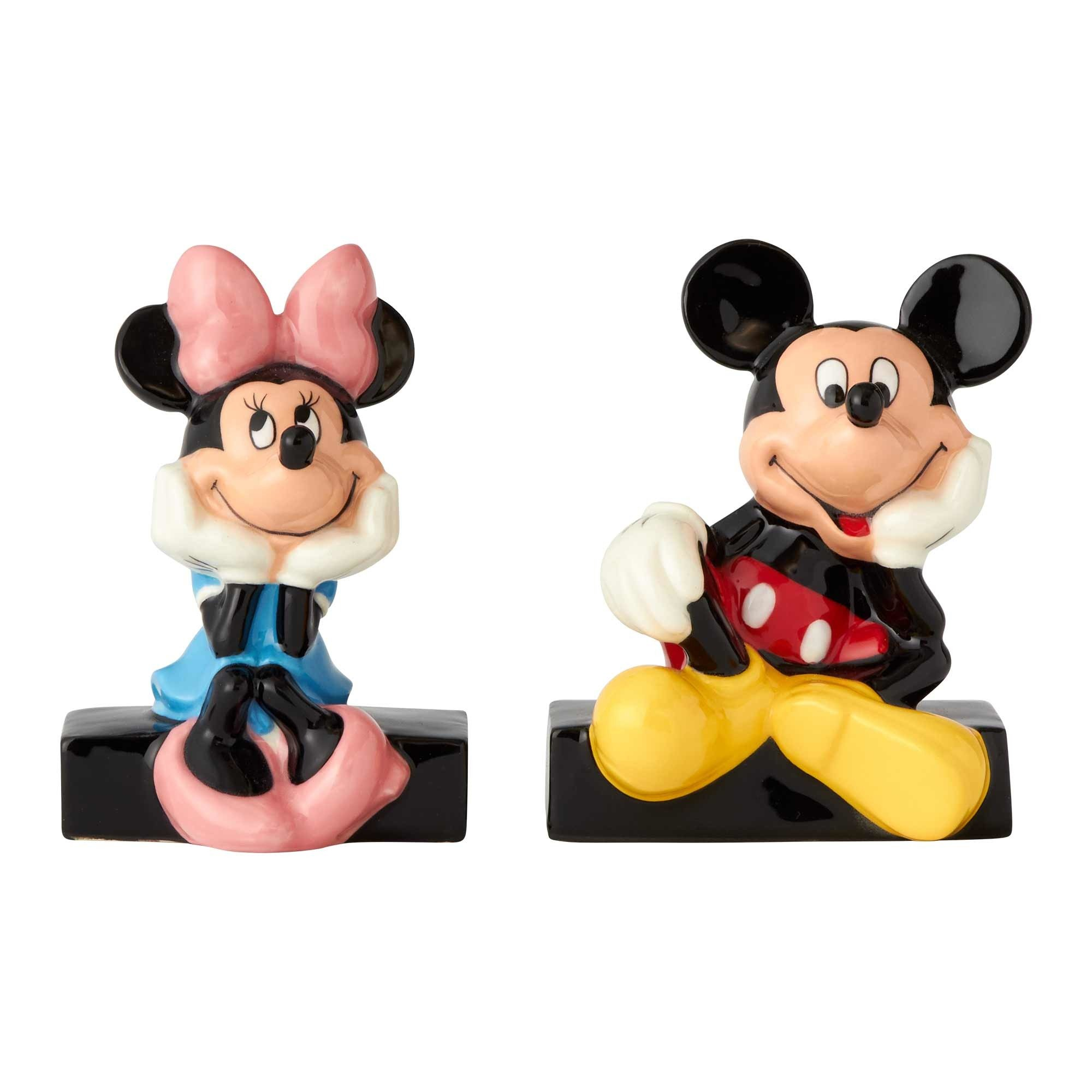 Enesco Disney Ceramics Mickey and Minnie Mouse Salt and Pepper Shakers, 3.5'', Multicolor