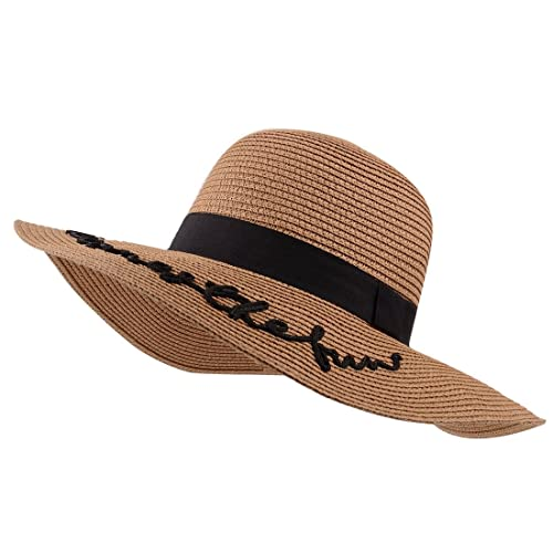 YUUVE Ampio Cappello di Estate delle Signore del Cappello di Paglia della Protezione della Spiaggia ...