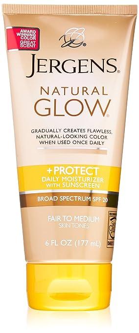 Jergens SPF Glow e Proteger Body Lotion, Feira de Med, 6 Ounce