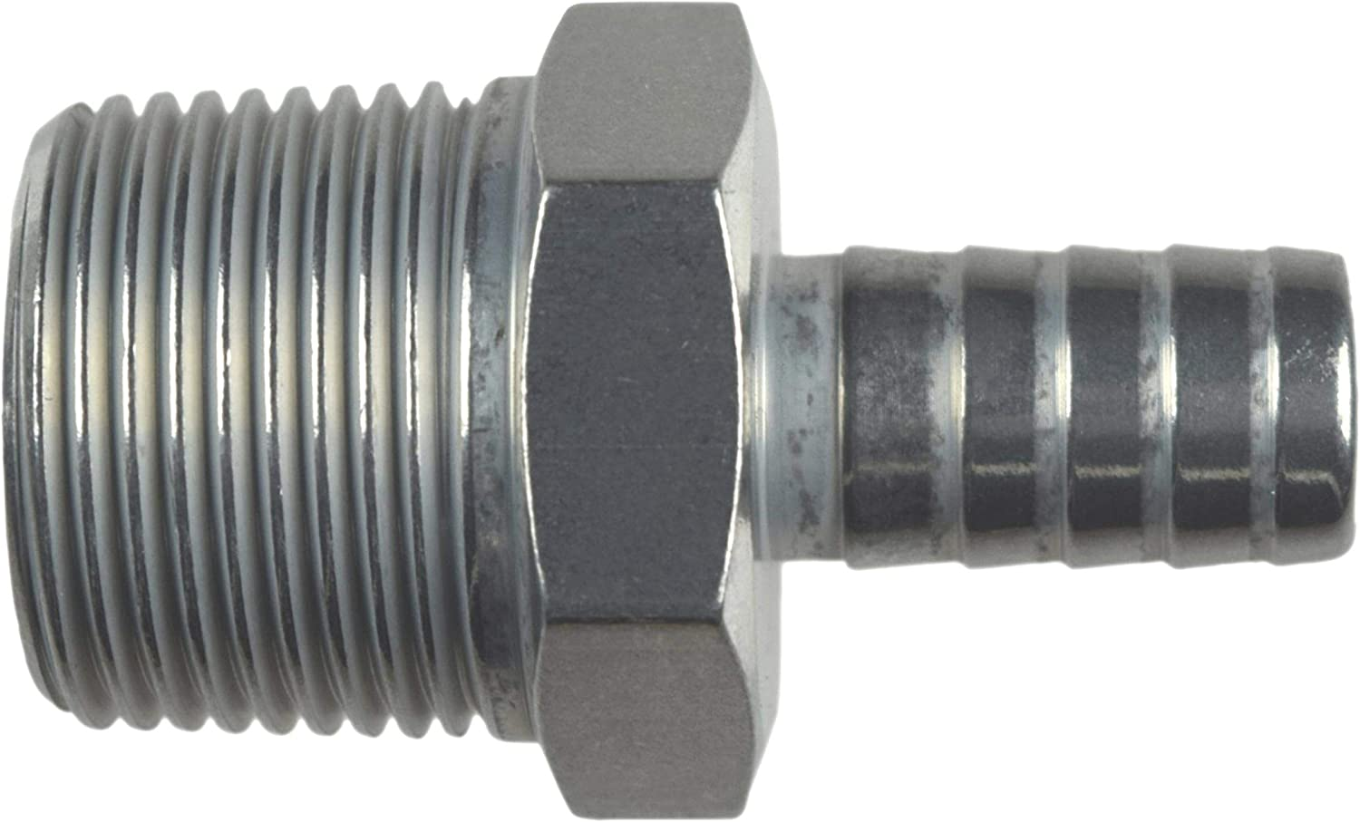 ICT Billet Straight 1//2 NPT Pipe to 1//2 .500 Hose Barb Fitting Bare Aluminum AN840-08-08A