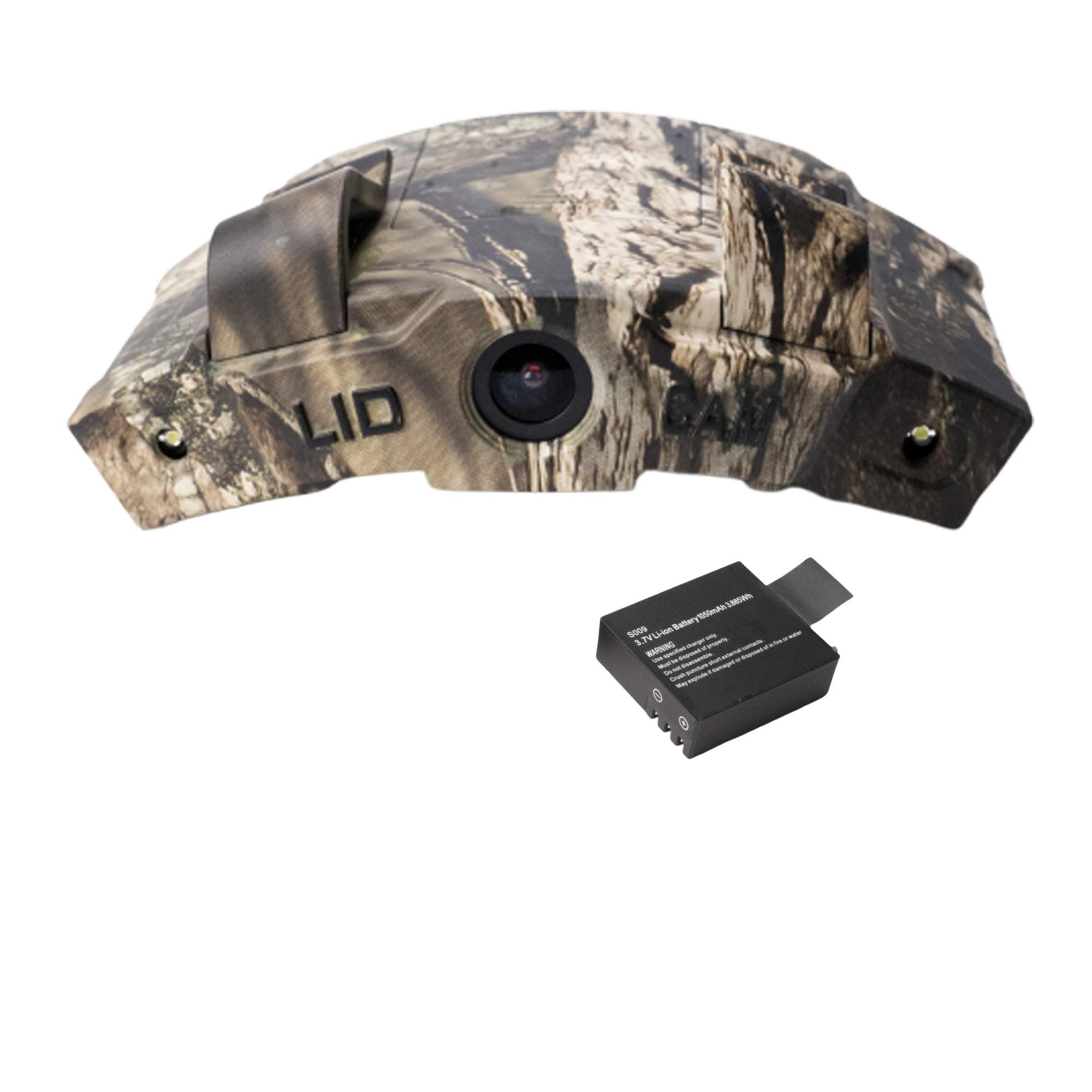 LiDCAM LC-WF Hands Free Digital Camouflage Action Camera, 1080P HD Wi-Fi with Full Audio by LiDCAM