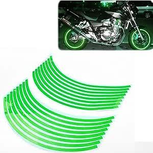 USEN Sticker wheel Rim Kawasaki Ninja ZX 6R ZX-6R Green strip tape vinyl adhesiv