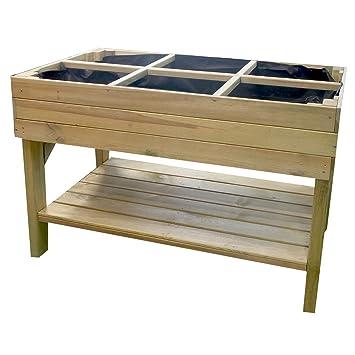 Nordje Hochbeet Almina Aus Holz 120x60x85cm Mit Ablage Bausatz Inkl