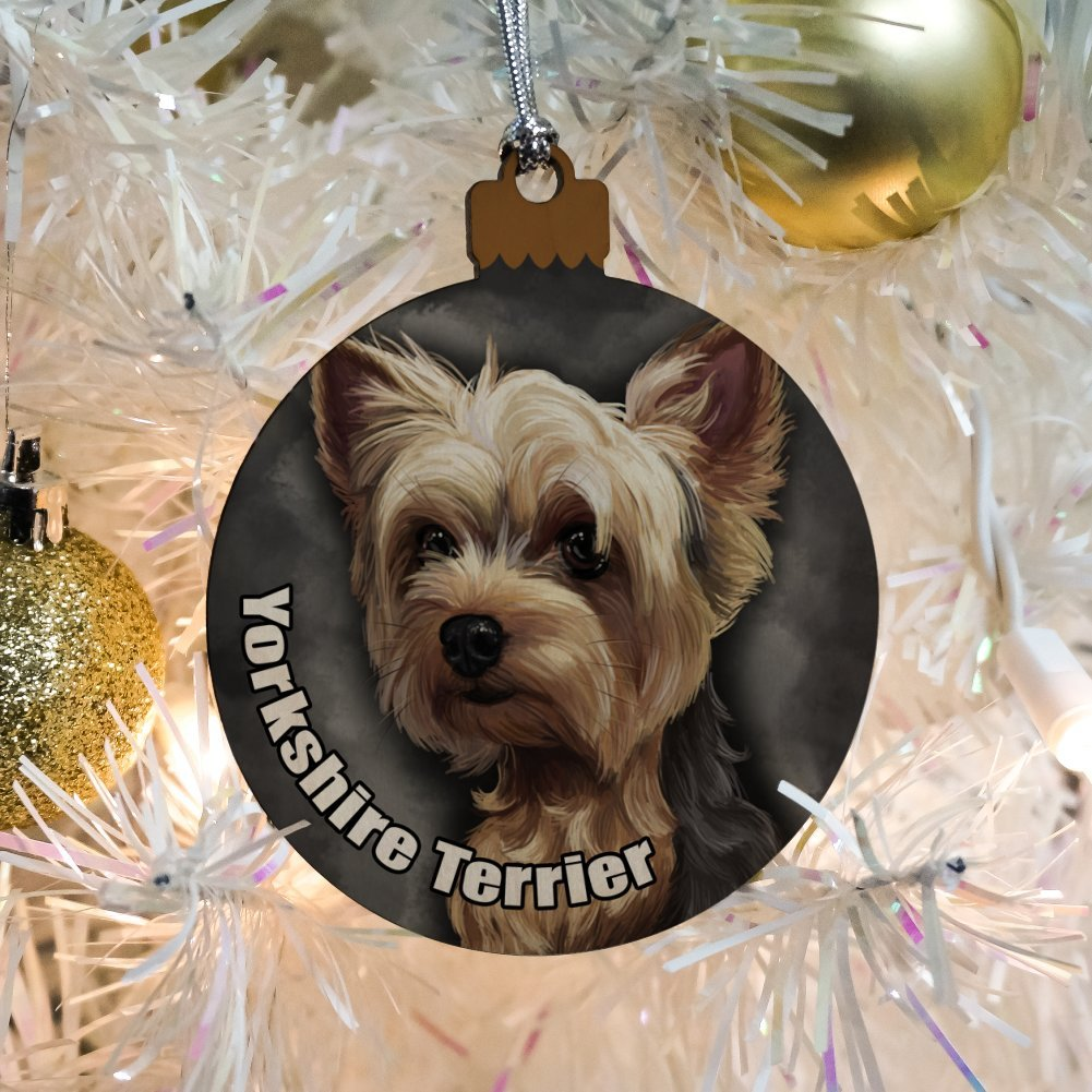 Amazon Com Yorkshire Terrier Yorkie Dog Pet Wood Christmas Tree