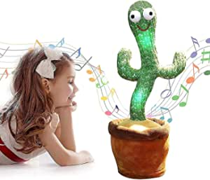HAOYA Dancing Cactus Toy, Included 120 Music Songs, Sing Dance Recorde and Repeat What You say, Early Childhood Education Toys, Nice Gift for baby Toddler Kids(Classic)