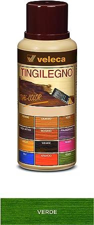 Veleca Tival - Tinte para madera verde – 250 ml – Tinte para madera de interior
