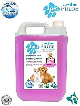 5L mascota orgullo de la perrera, cattery desinfectante, limpiador, ambientador - Bubble Gum: Amazon.es: Hogar