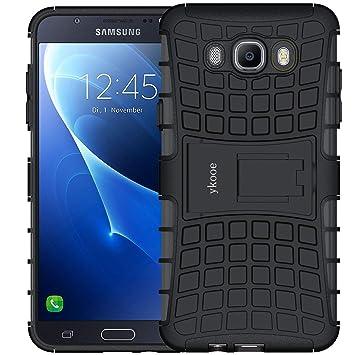 ykooe Funda Galaxy J7 2016, (TPU Series) Samsung J7 Híbrida Doble Capa Teléfono Móvil Carcasa Antigolpes Funda con Soporte para Samsung Galaxy J7 ...