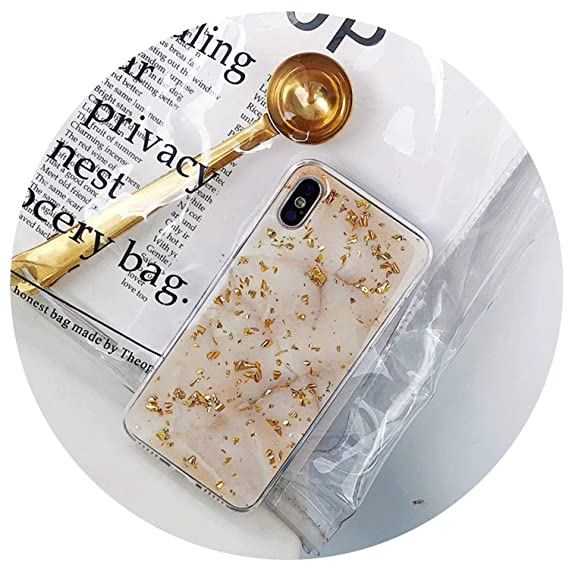 b7ea1832e6d Amazon.com: Luxury Gold Foil Bling Marble Phone Case for iPhone X XS ...
