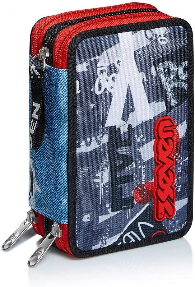 Astuccio 3 Zip Schoolpack Trolley,Tyre Maxi Ruota 1 Urban Rock Borraccia Coordinati.