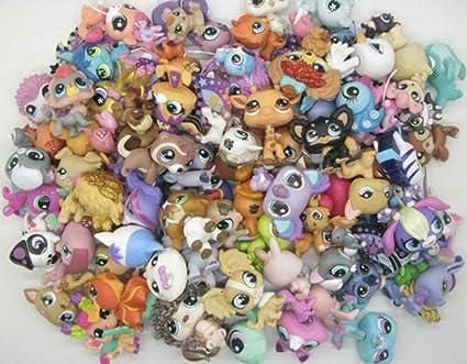Lot 40pcs random Littlest Pet Shop 100/% Original  Loose Figures E89D