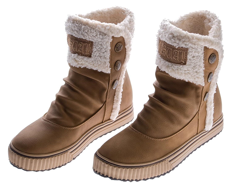 Damen Winterschuhe braun 37 Snow Boots gefuttert