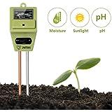Jellas Soil Moisture Meter 3-In-1 Soil pH Meter Moisture Sensor Sunlight pH Soil Test Kits for Home and Garden, Indoor/Outdoor Plants - Olive Green