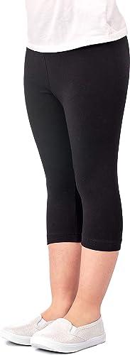 Adorel Girls Cropped Leggings 3//4 Length Capri Pack of 3