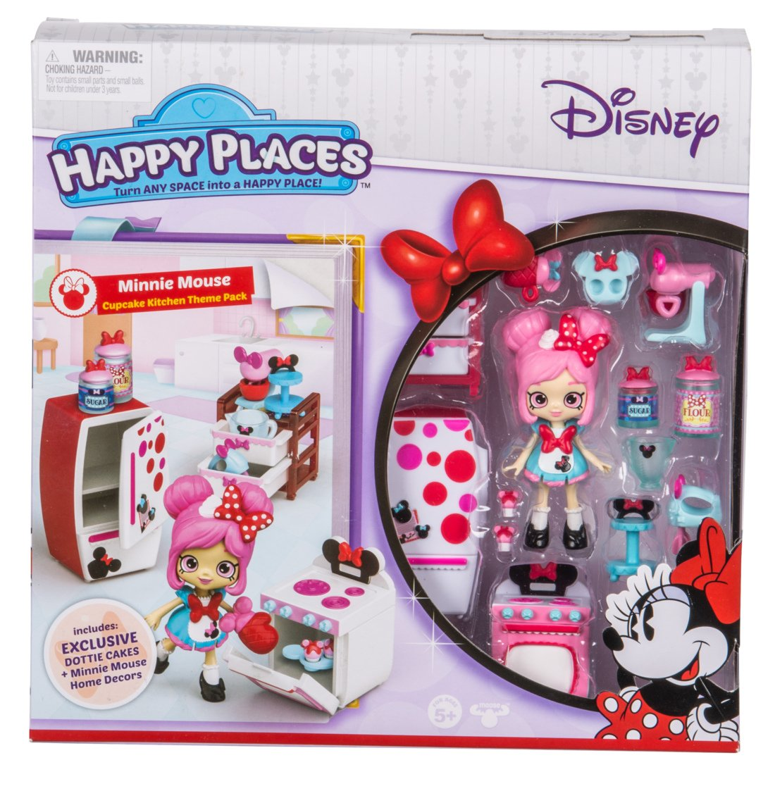 Happy Places Disney Season 1 Minnie Mouse Cupcake Kitchen Theme Pack Moose Toys Import 58110