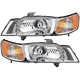 Driver and Passenger Headlights Headlamps Replacement for Honda Van 33151-S0X-A01 33101-S0X-A01