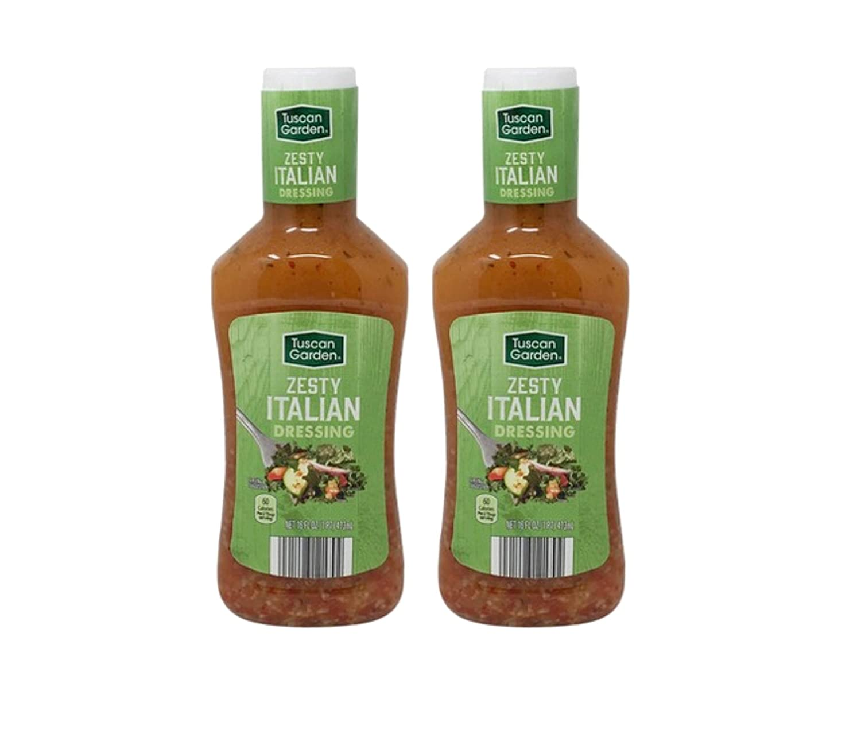 Tuscan Garden Zesty Italian Classic Salad Dressing - 2 Bottles (16 oz)